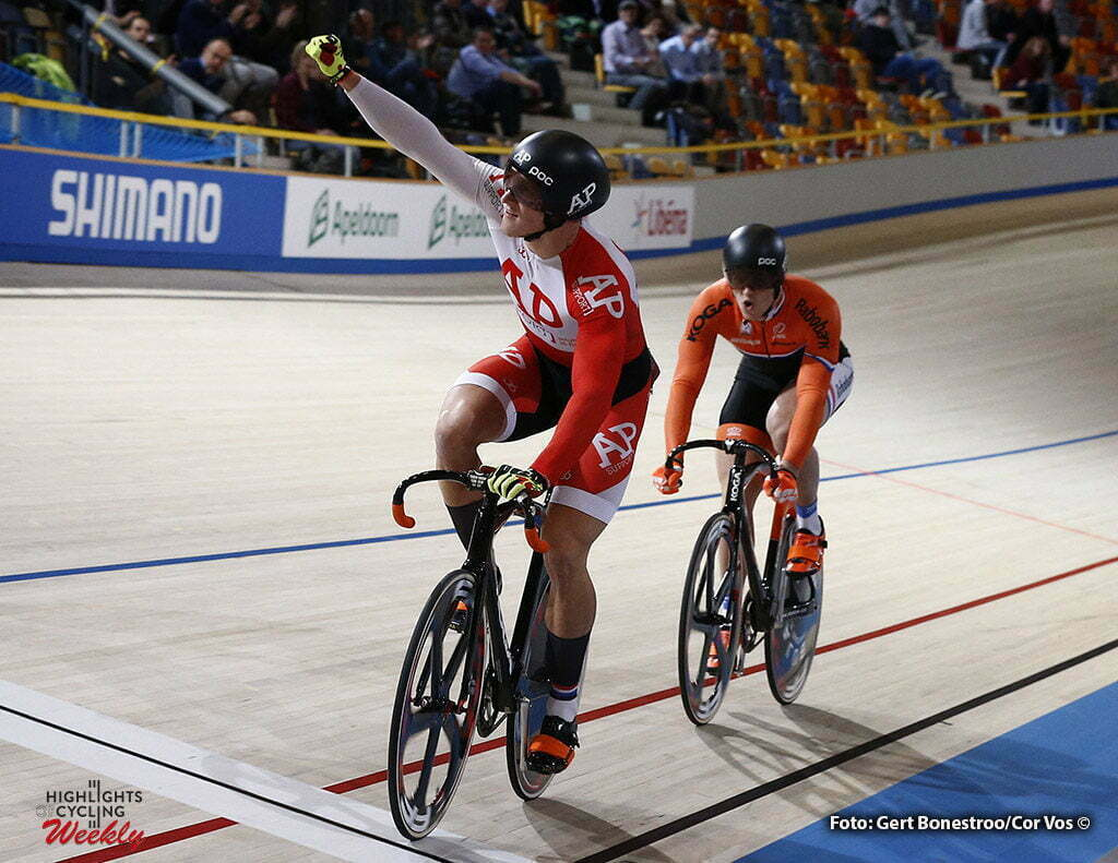 Apeldoorn - Netherlands - Omnisport - wielrennen - cycling - radsport - cyclisme - Jeffrey Hoogland - Harrie Lavreysen pictured during Dutch National Championships Track in Apeldoorn - photo Gert Bonestroo/Cor Vos © 2016