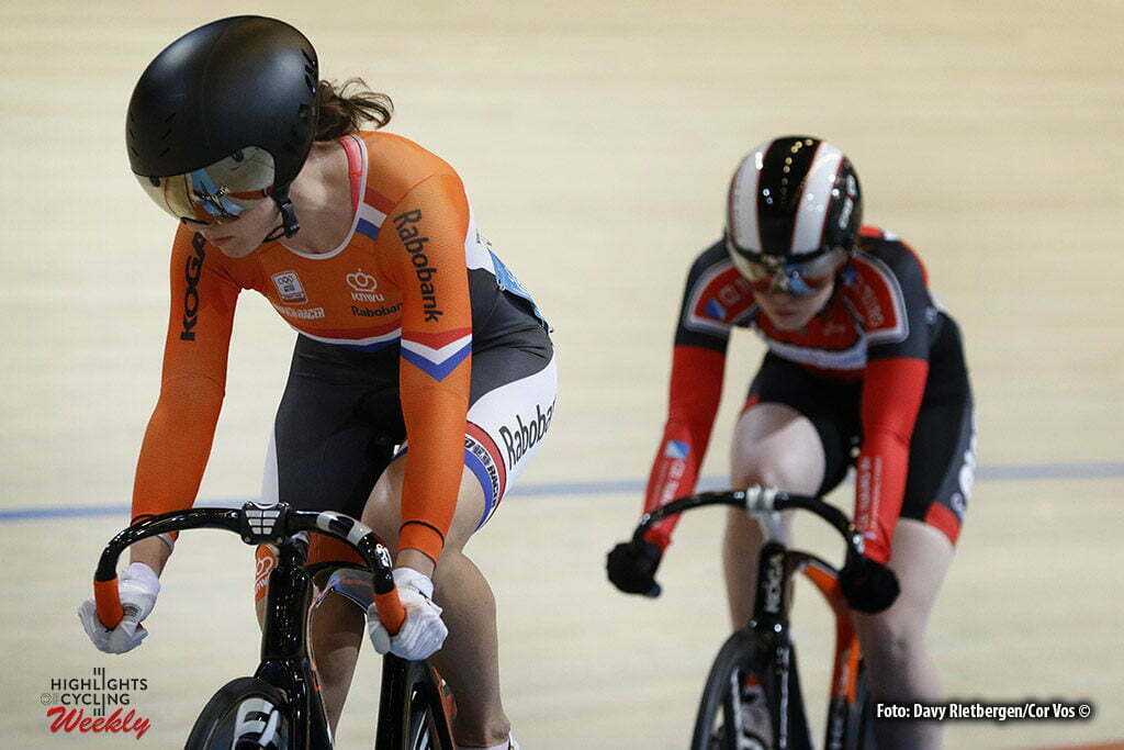 Apeldoorn - Netherlands - OmnisSport - wielrennen - cycling - radsport - cyclisme - Hetty van der Wouw - Laurine van Riessen pictured during Dutch National Championships Track in Apeldoorn - photo Davy Rietbergen/Cor Vos © 2016