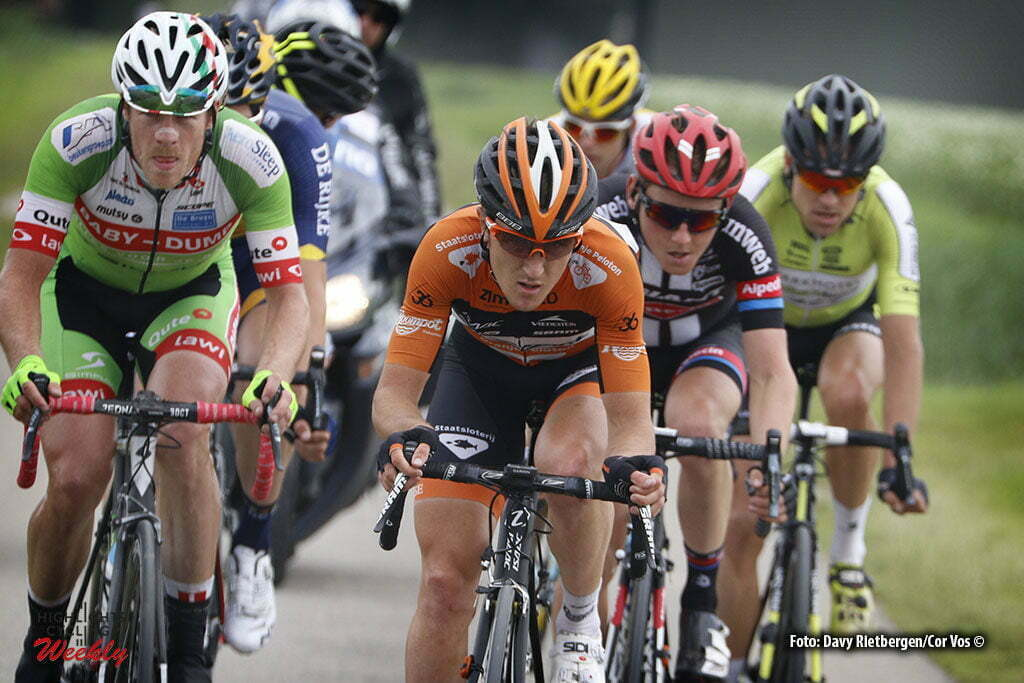 Brouwersdam - Netherlands - wielrennen - cycling - radsport - cyclisme - Nick van der Lijke (Netherlands / Roompot - Oranje Peloton) - Sam Oomen (Netherlands / Team Giant - Alpecin) pictured during NK Tijdrijden - Dutch National Championships road elite men - photo Anton Vos/Davy Rietbergen/ Cor Vos © 2016