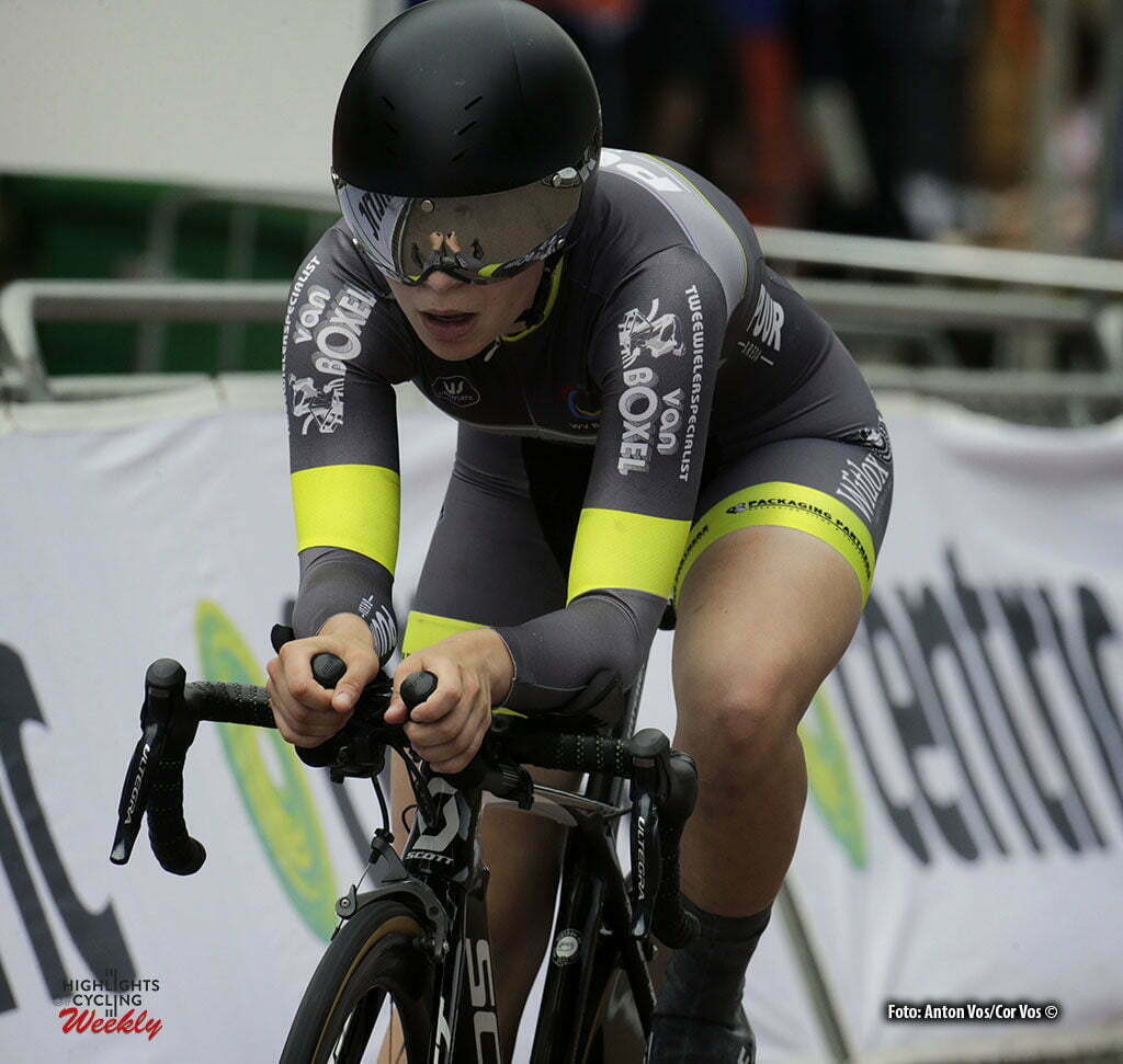 Middelharnis - Netherlands - wielrennen - cycling - radsport - cyclisme - Noa Jansen (Nieuwelingen meisjes) pictured during NK Tijdrijden - Dutch National Championships Tim Trial individual - photoAnton Vos/Davy Rietbergen/ Cor Vos © 2016