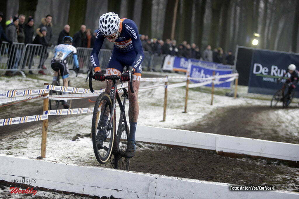 Michielsgestel - Netherlands - wielrennen - cycling - radsport - cyclisme - Ryan Kamp pictured during Dutch Championships Cyclocross - Juniors NK Veldrijden in Sint Michielsgestel - photo Anton Vos//Cor Vos © 2017
