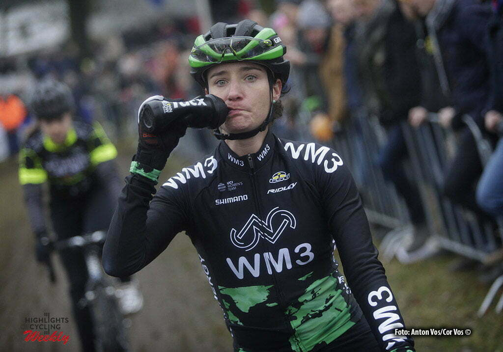 Michielsgestel - Netherlands - wielrennen - cycling - radsport - cyclisme - illustration - sfeer - illustratie start Marianne Vos (WM3 Pro Cycling) Tacx bidon - pictured during Dutch Championships Cyclocross - women NK Veldrijden in Sint Michielsgestel - photo Anton Vos/Cor Vos © 2017