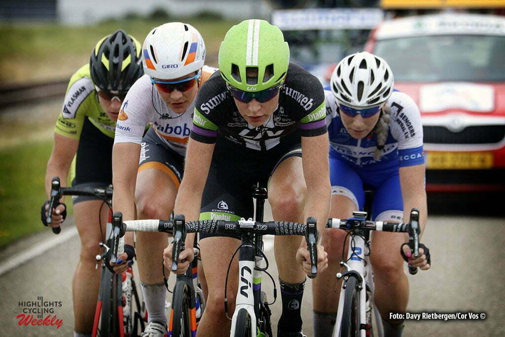 Brouwersdam - Netherlands - wielrennen - cycling - radsport - cyclisme - Markus Riejanne (Netherlands / Liv - Plantur) - Roxane Knetemann (Netherlands / Rabobank Liv Women Cycling Team) - Koedooder Vera (Netherlands / Parkhotel Valkenburg) - Kessler Nina (Netherlands / Lensworld - Zannata) pictured during NK Tijdrijden - Dutch National Championships road women - photo Anton Vos/Davy Rietbergen/ Cor Vos © 2016