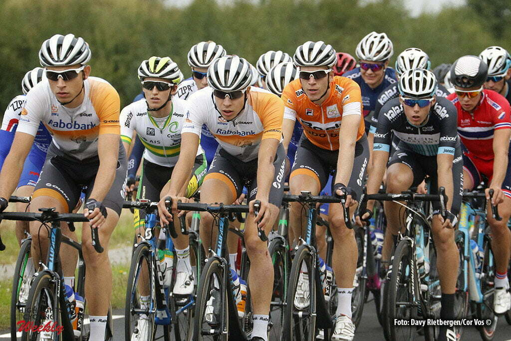 Reuver - Netherlands - wielrennen - cycling - radsport - cyclisme - Cees Bol (Rabobank Development Team) - Martijn Budding (Rabobank Development Team) - Peter Lenderink (Rabobank Development Team) pictured during Olympia's Tour 2016 stage 5 - from Reuver to Reuver - photo Davy Rietbergen/Cor Vos © 2016