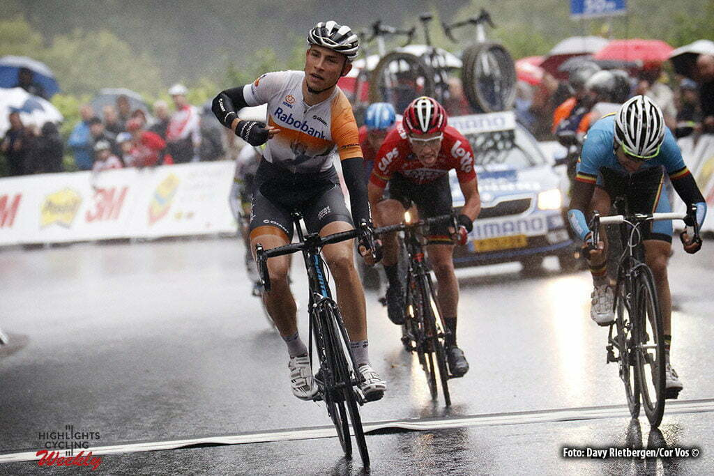 Noorbeek - Netherlands - wielrennen - cycling - radsport - cyclisme - Martijn Budding (Rabobank Development Team) - Piet Allegaert (Belgium) - Stan De Wulf (Lotto Soudal U23) pictured during Olympia's Tour 2016 stage 6 - from Margraten to Noorbeek - photo Davy Rietbergen/Cor Vos © 2016