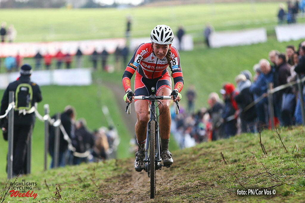 Overijse - Belgium - wielrennen - cycling - radsport - cyclisme - Sophie De Boer (Kalas-Essers pictured during the woman race the Druivencross Overijse - photo PN/Cor Vos © 2016
