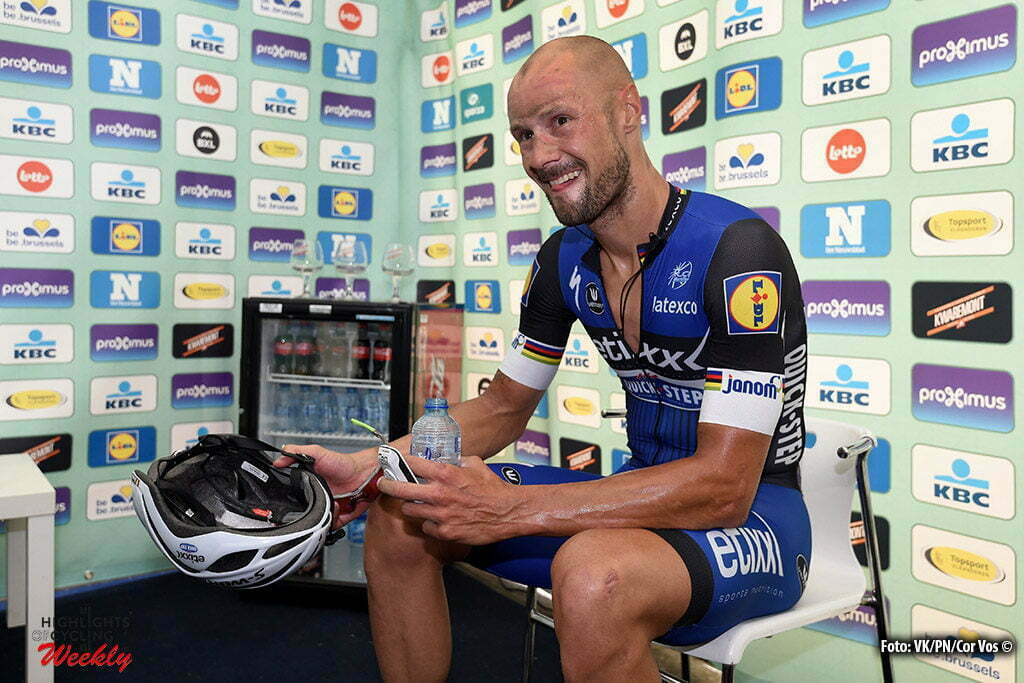 Brussels - Belgium - wielrennen - cycling - radsport - cyclisme - Tom Boonen (Belgium / Team Etixx - Quick Step) pictured during the finish of the 4th edition of BCC Brussels Cycling Classic 2016 (199 kms) also known as Paris - Brussels on September 03, 2016 in Brussels, Belgium - photo VK/PN/Cor Vos © 2016