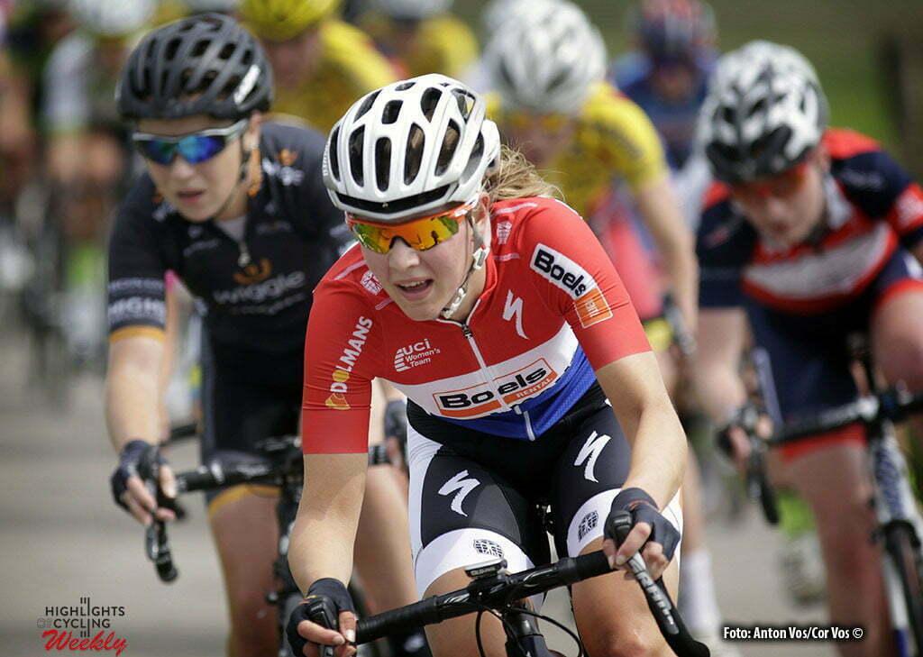 Harderwijk - Netherlands - wielrennen - cycling - radsport - cyclisme - De Jong Demi (Netherlands / Boels Dolmans Cycling Team) pictured during De Parel van de Veluwe a one day race for women - vrouwen - feminin - photo Anton Vos/Cor Vos ©2016