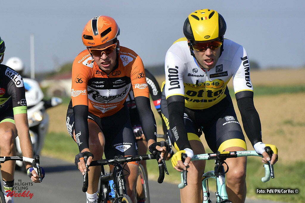 Tours - France - wielrennen - cycling - radsport - cyclisme - Maarten Wynants (Belgium / Team LottoNL - Jumbo) - Brian van Goethem (Netherlands / Roompot - Oranje Peloton) picured during the 110th edition of the Paris-Tours cycling race with start in Dreux and finish in Tours on October 09, 2016 in Tours, France, 9/10/2016 - photo PdV/PN/Cor Vos © 2016