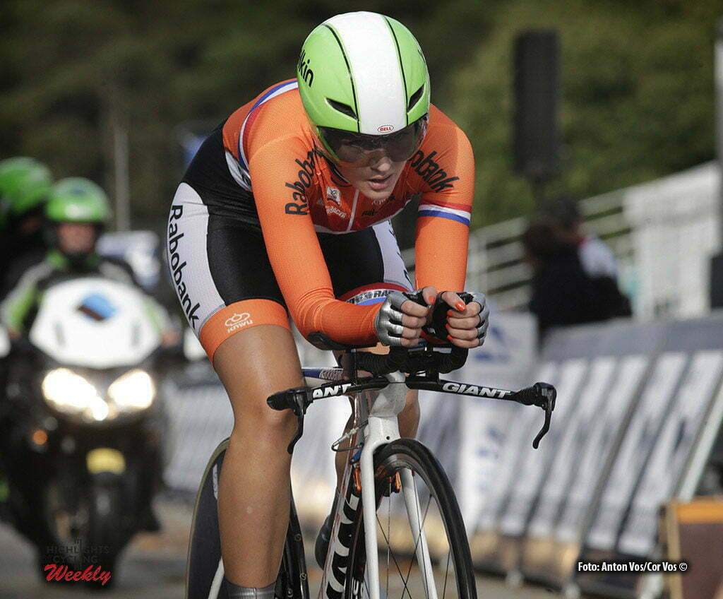 Plumelec - France - wielrennen - cycling - radsport - cyclisme - Karlijn Swinkels (Netherlands) pictured during Europeen Championships Cycling - Junior Women ITT Time Trial individual - in Plumelec, France - photo Anton Vos/Cor Vos © 2016