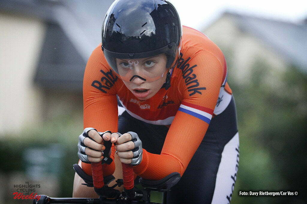 Plumelec - France - wielrennen - cycling - radsport - cyclisme - Maaike Boogaard (Netherlands) pictured during Europeen Championships Cycling - Junior Women ITT Time Trial individual - in Plumelec, France - photo Davy Rietbergen/Cor Vos © 2016