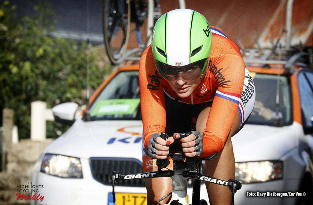 Plumelec - France - wielrennen - cycling - radsport - cyclisme - Karlijn Swinkels (Netherlands) pictured during Europeen Championships Cycling - Junior Women ITT Time Trial individual - in Plumelec, France - photo Davy Rietbergen/Cor Vos © 2016