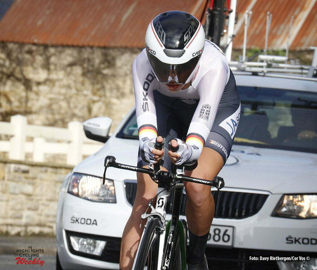 Plumelec - France - wielrennen - cycling - radsport - cyclisme - Christina Riffel (Germany) pictured during Europeen Championships Cycling - Junior Women ITT Time Trial individual - in Plumelec, France - photo Davy Rietbergen/Cor Vos © 2016