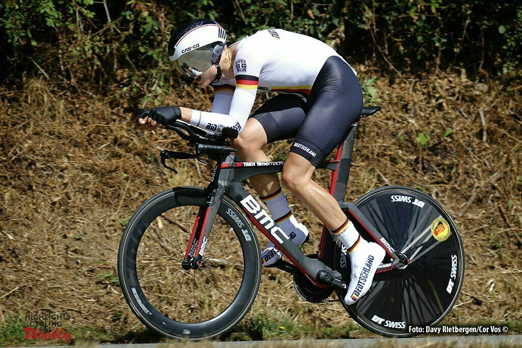 Plumelec - France - wielrennen - cycling - radsport - cyclisme - Felix Gross (GER) pictured during Europeen Championships Cycling - Junior men ITT Time Trial individual - in Plumelec, France - photo Davy Rietbergen/Cor Vos © 2016