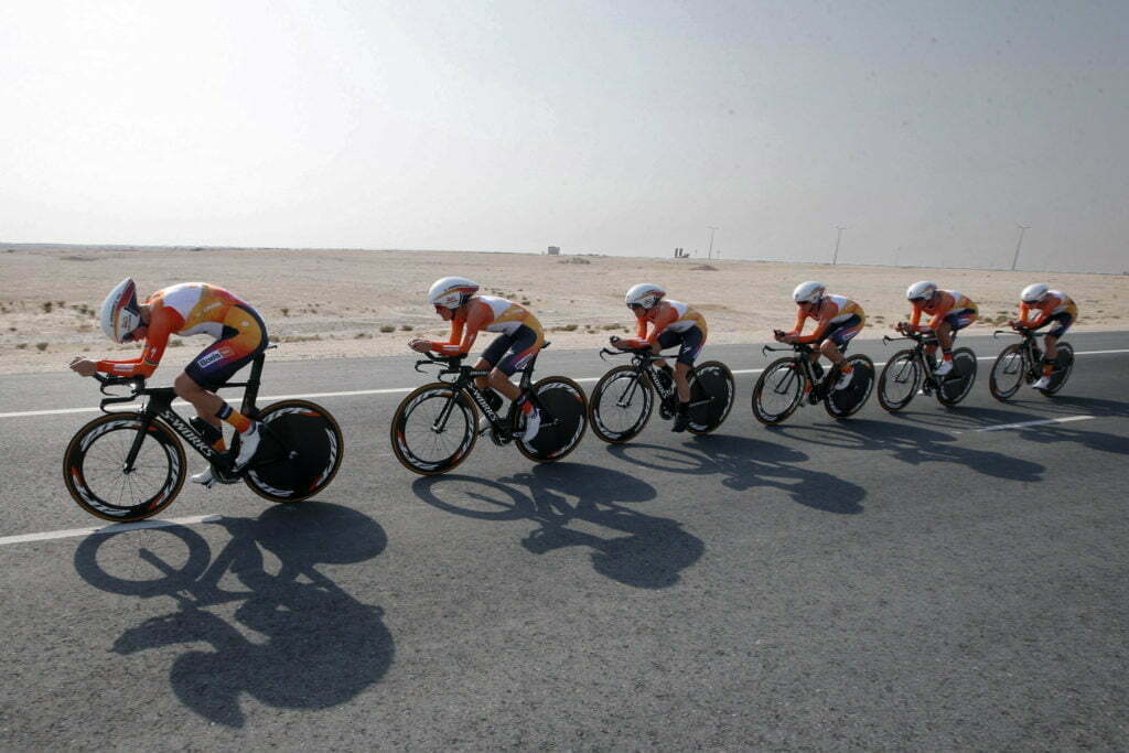 Doha - Qatar - wielrennen - cycling - radsport - cyclisme - Team Boels Dolmans pictured during TTT women Team Time Trial of the UCI Road World Championships 2016 in Qatar. - photo Davy Rietbergen/Cor Vos © 2016