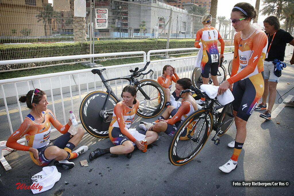 Doha - Qatar - wielrennen - cycling - radsport - cyclisme - Boels Dolmans Cycling Team pictured during TTT women Team Time Trial of the UCI Road World Championships 2016 in Qatar. - photo Davy Rietbergen/Cor Vos © 2016