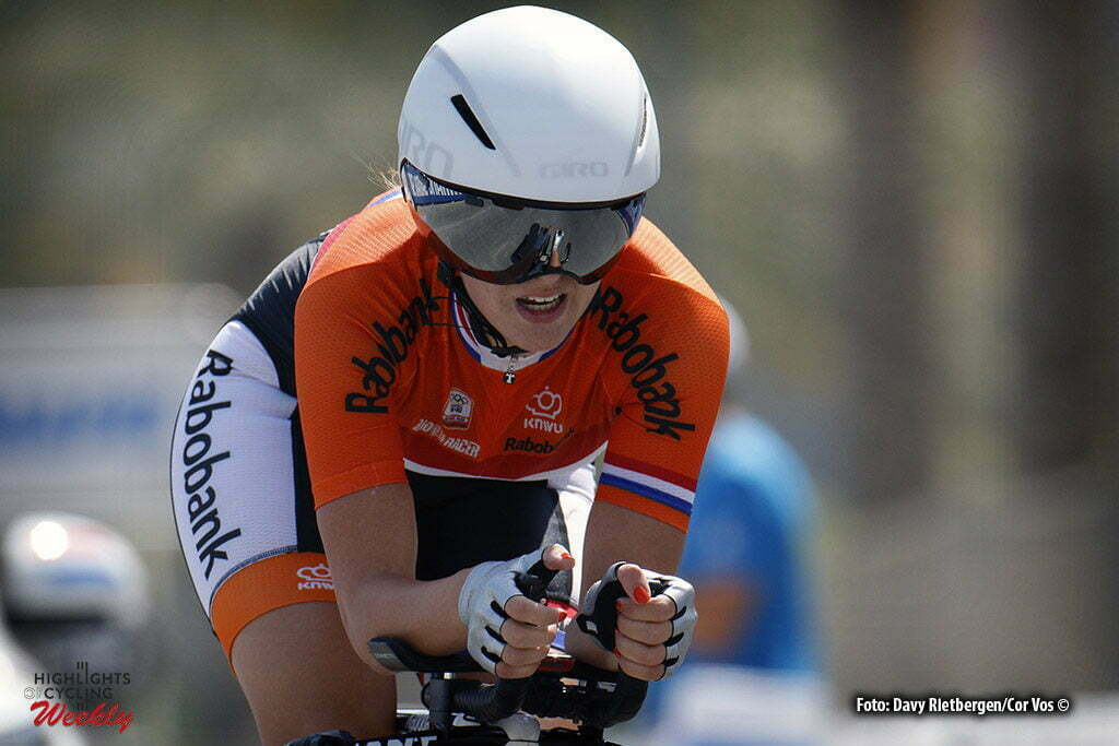 Doha - Qatar - wielrennen - cycling - radsport - cyclisme - Karolijn Swinkels (NED) pictured during the ITT junior women Time Trial Individual of the UCI Road World Championships 2016 in Qatar - photo Davy Rietbergen/Cor Vos © 2016