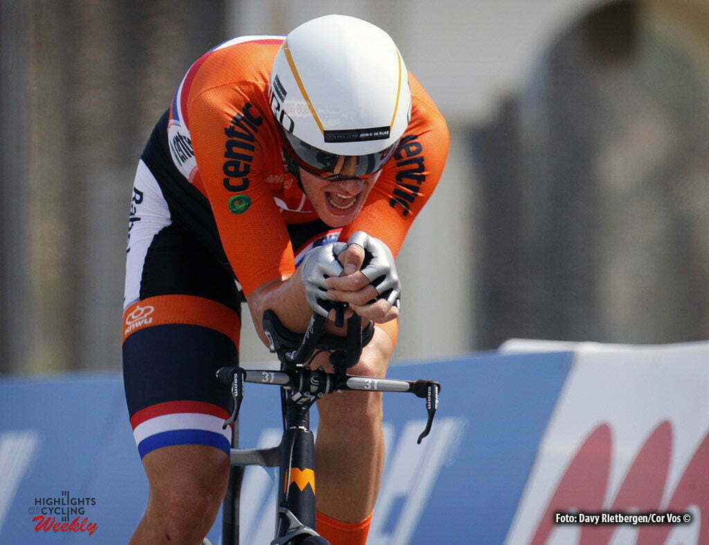 Doha - Qatar - wielrennen - cycling - radsport - cyclisme - Jan-Willem van Schip (NED) pictured during the ITT Under 23 Time Trial Individual of the UCI Road World Championships 2016 in Qatar - photo Davy Rietbergen/Cor Vos © 2016
