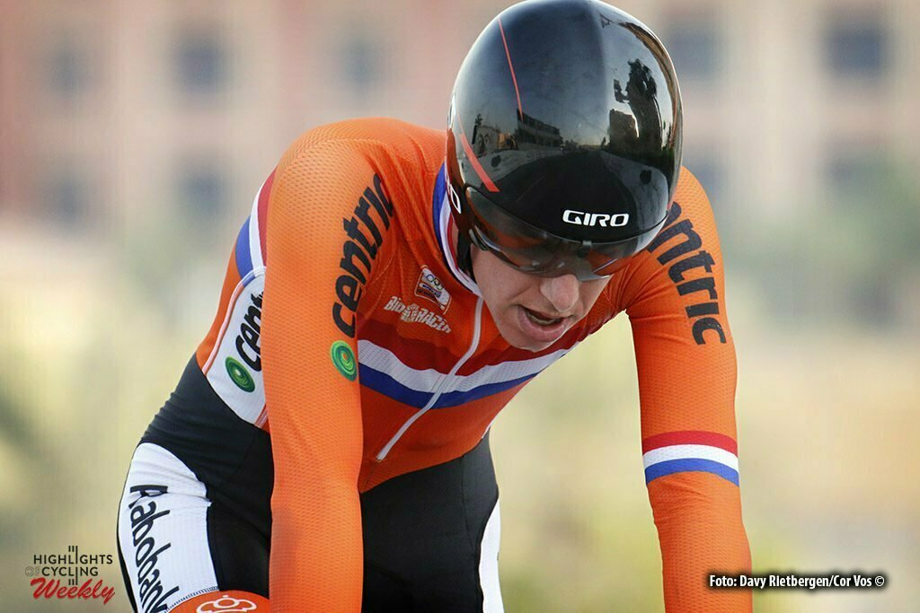 Doha - Qatar - wielrennen - cycling - radsport - cyclisme - Pascal Eenkhoorn (NED) pictured during the ITT Under 23 Time Trial Individual of the UCI Road World Championships 2016 in Qatar - photo Davy Rietbergen/Cor Vos © 2016