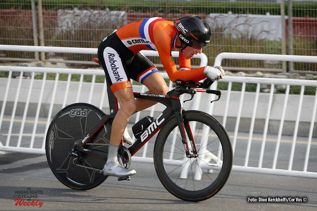 Doha - Qatar - wielrennen - cycling - radsport - cyclisme - Pascal Eenkhoorn (NED) pictured during the ITT Under 23 Time Trial Individual of the UCI Road World Championships 2016 in Qatar - photo Dion Kerckhoffs/Cor Vos © 2016