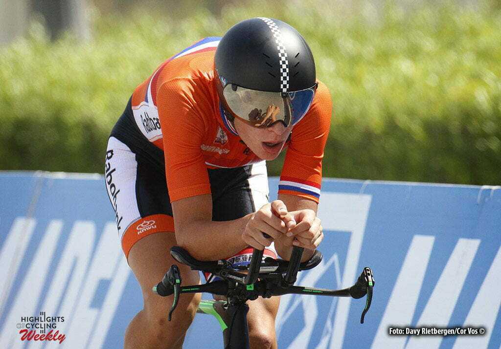 Doha - Qatar - wielrennen - cycling - radsport - cyclisme - Jarno Mobach (NED) pictured during the ITT junior men Time Trial Individual of the UCI Road World Championships 2016 in Qatar - photo Davy Rietbergen/Cor Vos © 2016