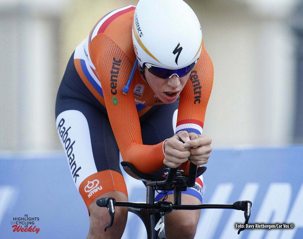 Doha - Qatar - wielrennen - cycling - radsport - cyclisme - Van Dijk Ellen (Netherlands / Boels Dolmans Cycling Team) pictured during ITT women Time Trial Individual of the UCI Road World Championships 2016 in Qatar - photo Davy Rietbergen/Cor Vos © 2016