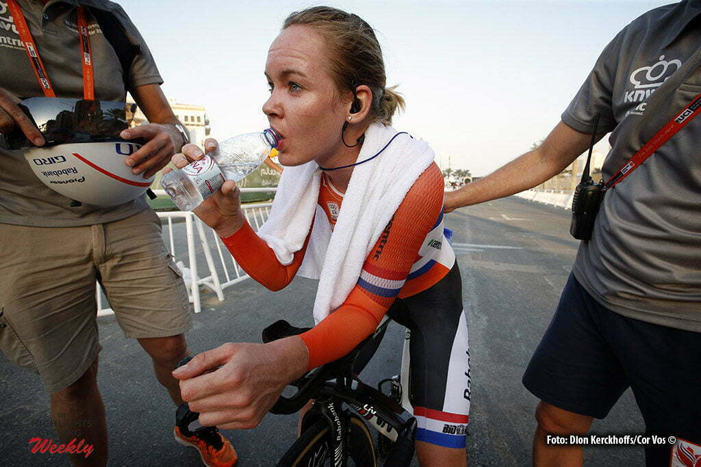 Doha - Qatar - wielrennen - cycling - radsport - cyclisme - Anna van der Breggen pictured during ITT women Time Trial Individual of the UCI Road World Championships 2016 in Qatar - photo Dion Kerckhoffs/Cor Vos © 2016