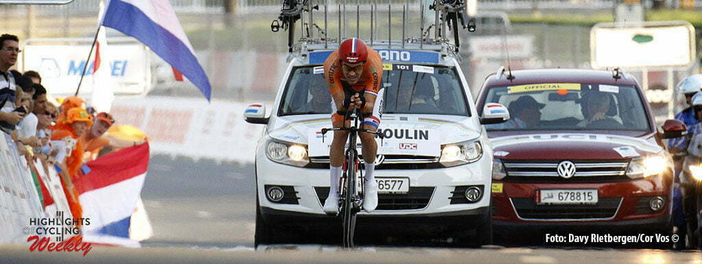Doha - Qatar - wielrennen - cycling - radsport - cyclisme - Tom Dumoulin (Netherlands / Team Giant - Alpecin) pictured during ITT men Time Trial Individual of the UCI Road World Championships 2016 in Qatar - photo Davy Rietbergen/Cor Vos © 2016