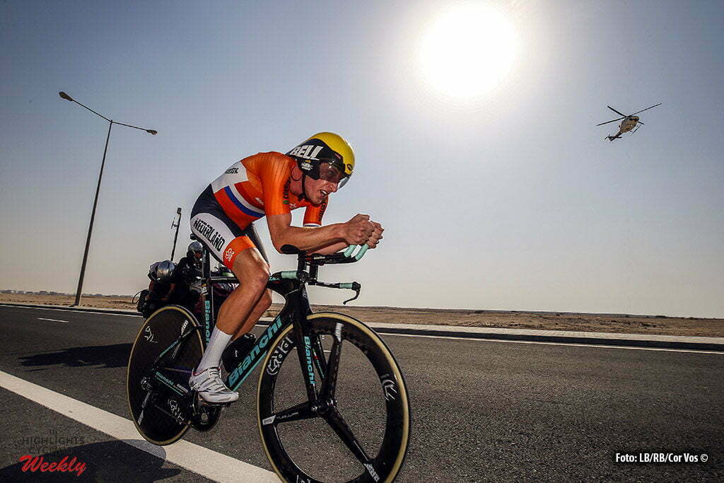 Doha - Qatar - wielrennen - cycling - radsport - cyclisme - Jos Van Emden (Netherlands / Team LottoNL - Jumbo) pictured during ITT men Time Trial Individual of the UCI Road World Championships 2016 in Qatar - photo LB/RB/Cor Vos © 2016