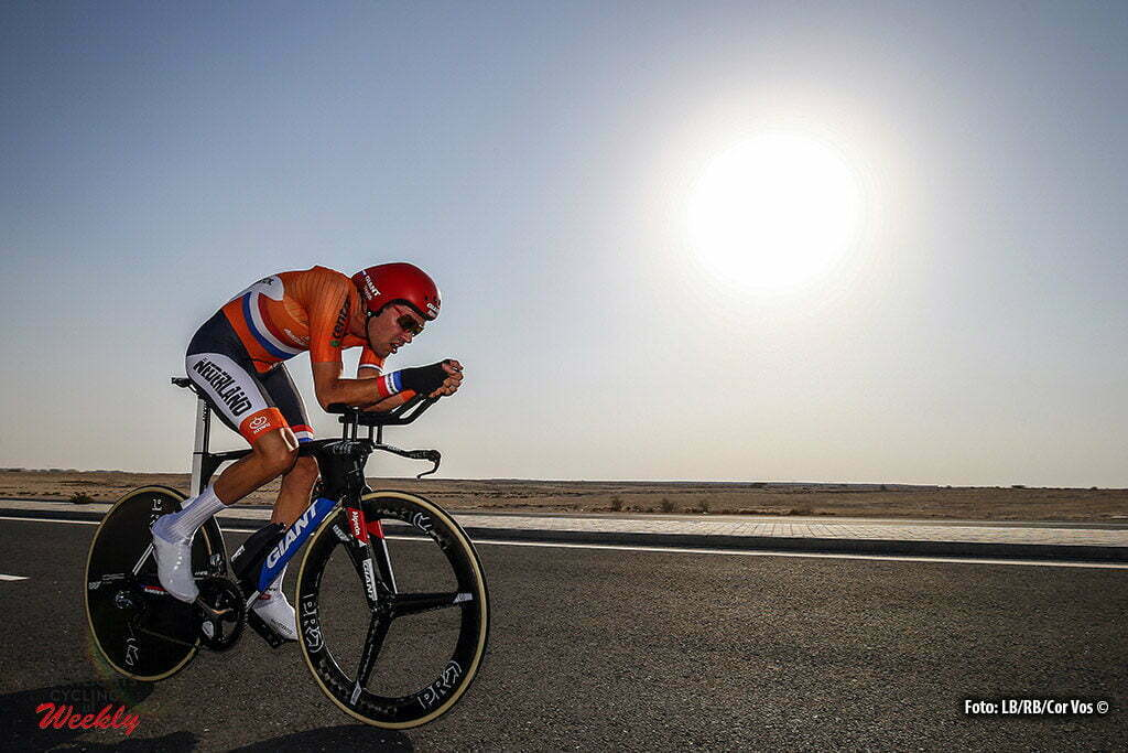 Doha - Qatar - wielrennen - cycling - radsport - cyclisme - Tom Dumoulin (Netherlands / Team Giant - Alpecin) pictured during ITT men Time Trial Individual of the UCI Road World Championships 2016 in Qatar - photo LB/RB/Cor Vos © 2016