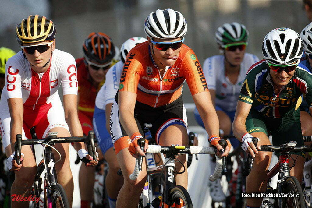 Doha - Qatar - wielrennen - cycling - radsport - cyclisme - Knetemann Roxane (Netherlands / Rabobank Liv Women Cycling Team) pictured during the Road Race women of the UCI Road World Championships 2016 in Qatar - photo Dion Kerckhoffs/Cor Vos © 2016