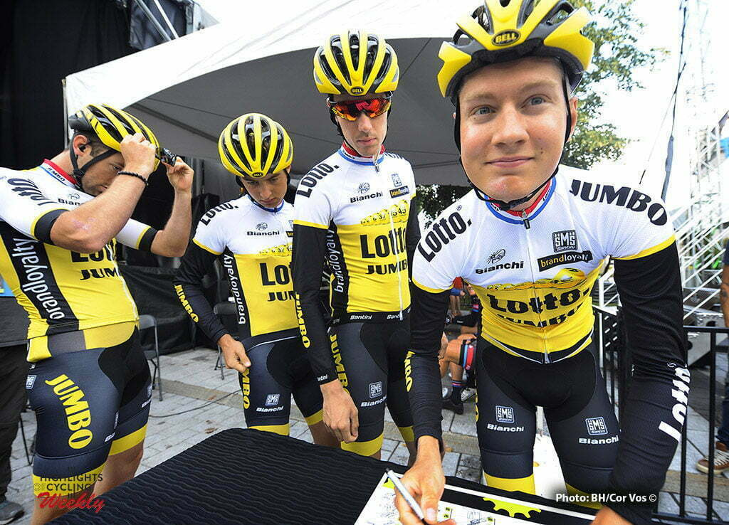 Québec - Canada - wielrennen - cycling - radsport - cyclisme - Wilco Kelderman (Netherlands / Team LottoNL - Jumbo) - Timo Roosen (Netherlands / Team LottoNL - Jumbo) - Alexey Vermeulen (USA / Team LottoNL - Jumbo) - Tom Van Asbroeck (Belgium / Team LottoNL - Jumbo) pictured during Grand Prix Cycliste de Québec 2016 - photo Brian Hodes/Cor Vos © 2016