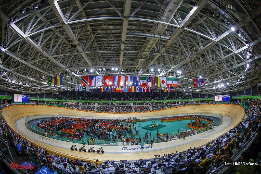 Rio de Janeiro - Brasil - wielrennen - cycling - radsport - cyclisme - illustration - sfeer - illustratie Velodrome pictured during track day-1 - Olympic Games 2016 in Rio - photo LB/RB/Cor Vos © 2016