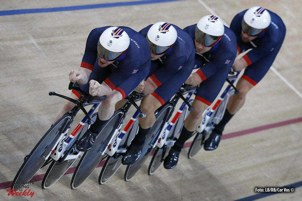 Rio de Janeiro - Brasil - wielrennen - cycling - radsport - cyclisme - Men's Team Pursuit Qualifying - 11/08/2016 - Veduta - Bradley Wiggins - Edward Clancey - Stevem Burke - Owain Doull (GBR) pictured during track day-1 - Olympic Games 2016 in Rio - photo LB/RB/Cor Vos © 2016