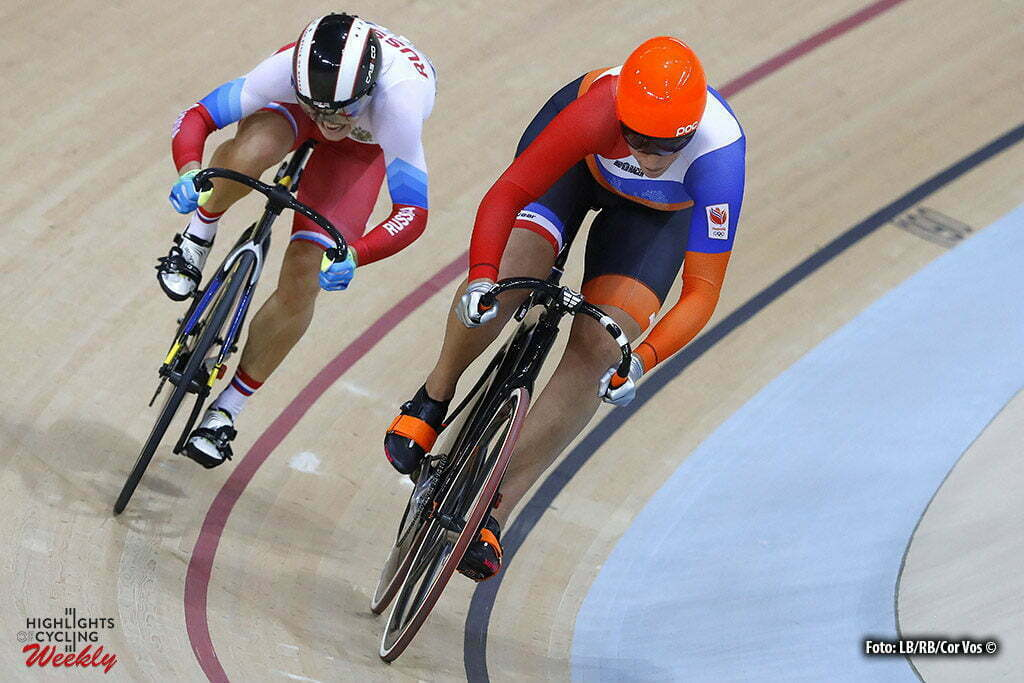 Rio de Janeiro - Brasil - wielrennen - cycling - radsport - cyclisme - Women's Sprint - 16/08/2016 - Elis Ligtlee (Netherlands) - Anastasia Voinova pictured during track day-6 - Olympic Games 2016 in Rio - photo LB/RB/Cor Vos © 2016