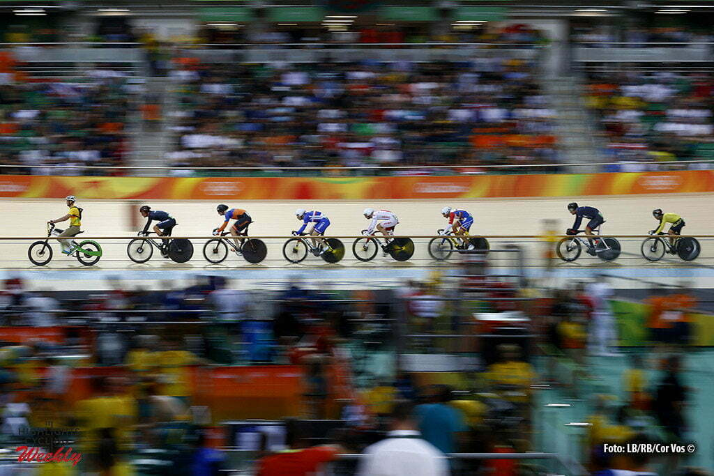Rio de Janeiro - Brasil - wielrennen - cycling - radsport - cyclisme - Men's Keirin - 16/08/2016 Matthijs Büchli (Netherlands) in second position pictured during track day-6 - Olympic Games 2016 in Rio - photo LB/RB/Cor Vos © 2016