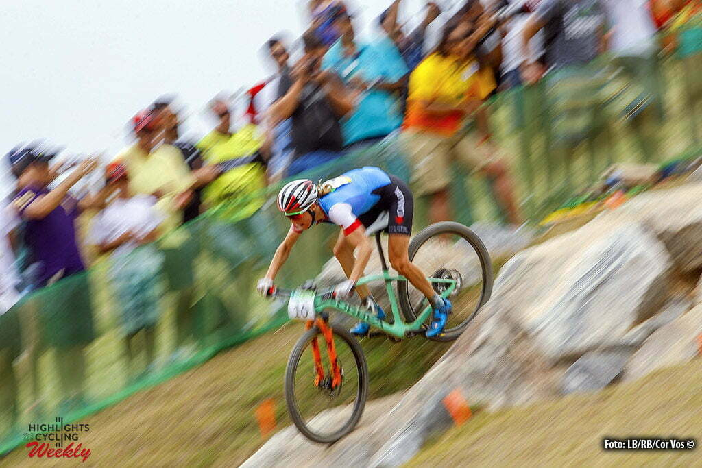 Rio de Janeiro - Brasil - wielrennen - cycling - radsport - cyclisme - Catharine Pendrel (Canada) Mountain Bike - Women's Cross-Country - 20/08/2016 of the Rio 2016 Summer Olympic Games on August 19, 2016 in Rio de Janeiro, Brazil. 19/08/2016 - photo LB/RB/Cor Vos © 2016