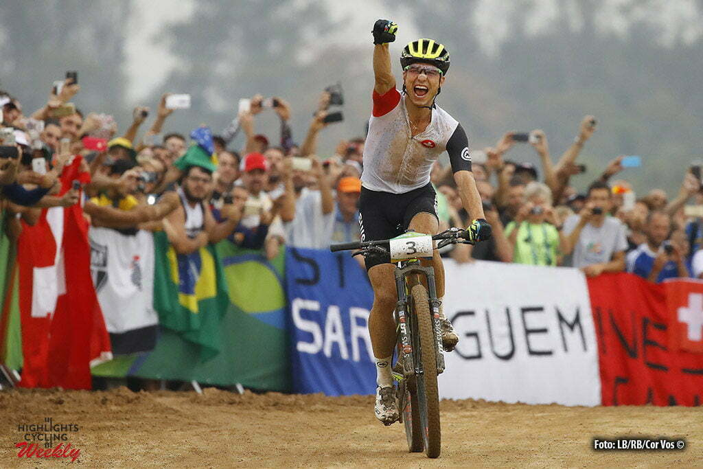 Rio de Janeiro - Brasil - wielrennen - cycling - radsport - cyclisme - Nino Schurter (Suisse) Mountain Bike - men's Cross-Country - 20/08/2016 of the Rio 2016 Summer Olympic Games on August 19, 2016 in Rio de Janeiro, Brazil. 19/08/2016 - photo LB/RB//Cor Vos © 2016