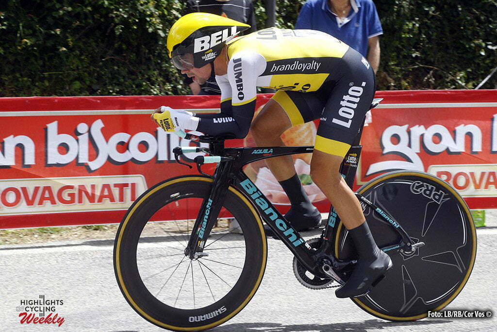 Greve - Italy - wielrennen - cycling - radsport - cyclisme - Primoz Roglic (Slowenia / Team LottoNL - Jumbo) pictured during stage 9 of the 99th Giro d'Italia 2016 from Radda to Greve ITT - Time Trial individual - foto LB/RB/Cor Vos © 2016