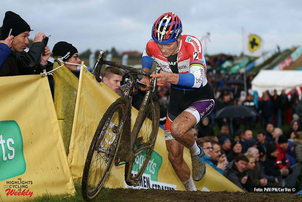 Ruddervoorde - Belgium - wielrennen - cycling - radsport - cyclisme - veldrijden - cyclocross - Mathieu van der Poel (NED) of Beobank - Corendon in action pictured during the Hansgrohe Superprestige cyclocross in Ruddervoorde for elite men - photo PD/PN/Cor Vos © 2015