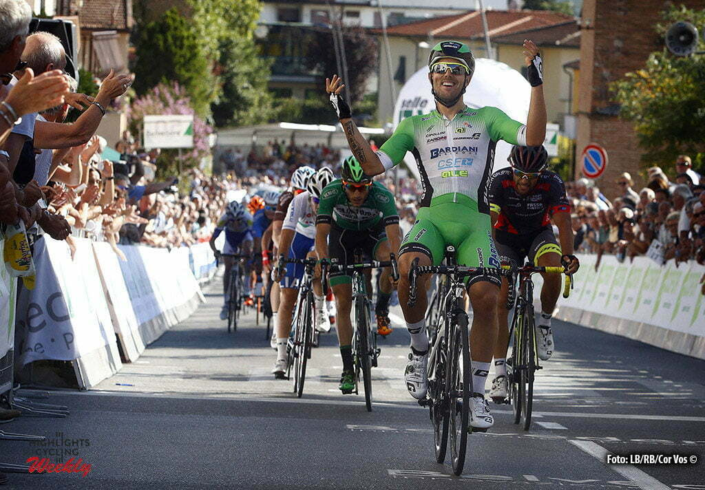 Peccioli - Italy - wielrennen - cycling - radsport - cyclisme - Sonny Colbrelli (Bardiani - CSF) pictured during Coppa Sabatini 2016 - GP Citta' di Peccioli from Peccioli to Peccioli 196 km - photo LB/RB/Cor Vos © 2016