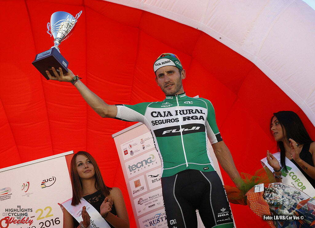 Peccioli - Italy - wielrennen - cycling - radsport - cyclisme - Carlos Barbero (Caja Rural - Seguros RGA) pictured during Coppa Sabatini 2016 - GP Citta' di Peccioli from Peccioli to Peccioli 196 km - photo LB/RB/Cor Vos © 2016