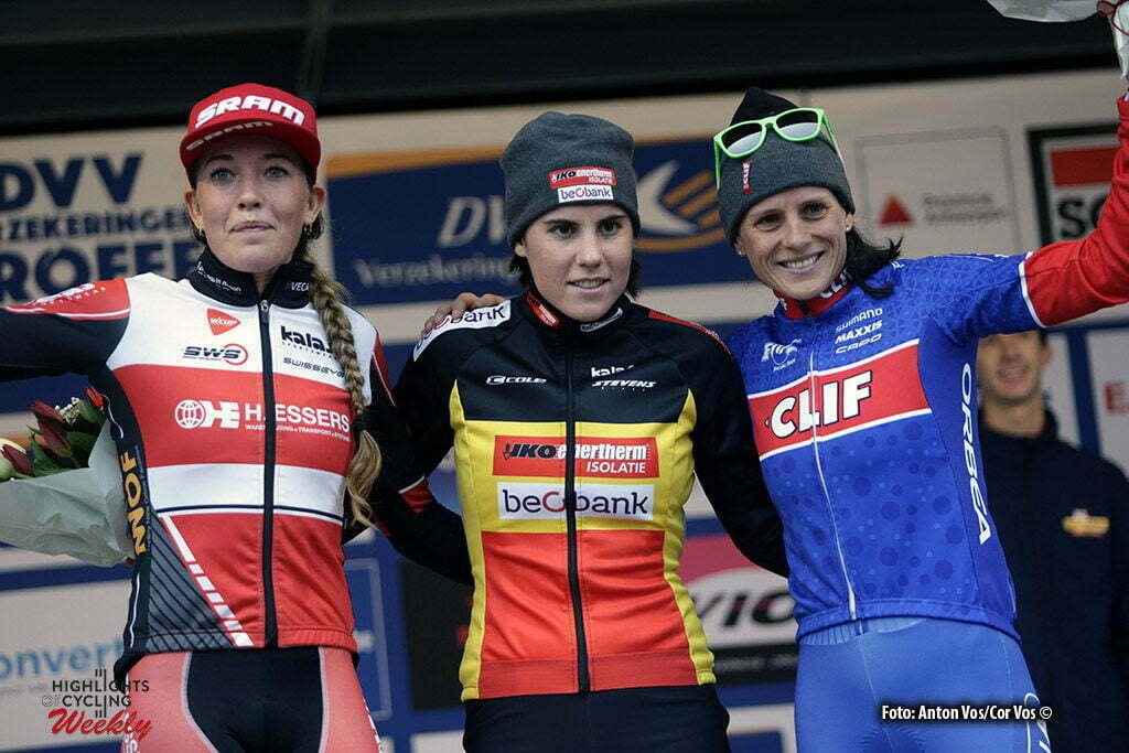 Anterpen - Belgium - wielrennen - cycling - radsport - cyclisme - Sanne Cant - Sophie de Boer - Katharina Nash pictured during DVV Trofee - Schelde-Cross Antwerpen 2016 women - photo Anton Vos/Cor Vos © 2016