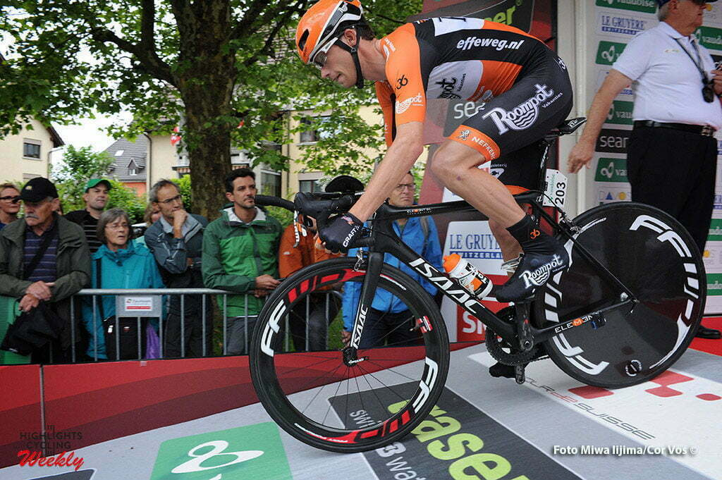 Baar - Switserland - wielrennen - cycling - radsport - cyclisme - Michel Kreder (Netherlands / Roompot - Oranje Peloton) pictured during stage 1 of the Tour de Suisse 2016 from Baar to Baar (6,4 km) ITT Team Trial Individual - photo Miwa IIjima/Cor Vos © 2016