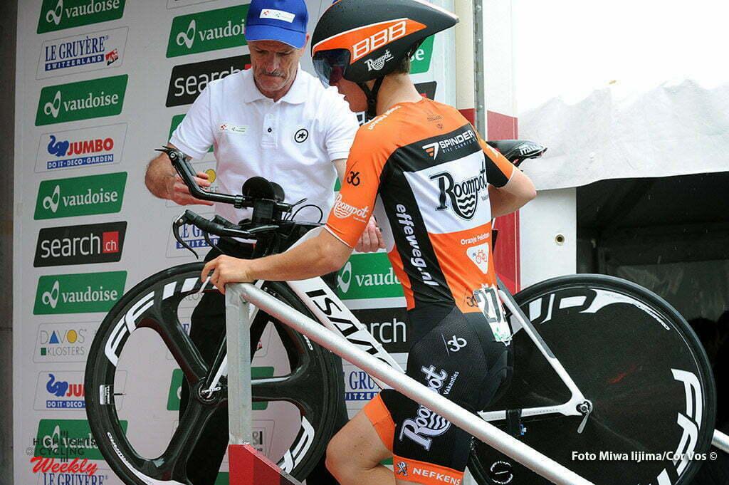 Baar - Switserland - wielrennen - cycling - radsport - cyclisme - Antwan Tolhoek (Netherlands / Roompot - Oranje Peloton) pictured during stage 1 of the Tour de Suisse 2016 from Baar to Baar (6,4 km) ITT Team Trial Individual - photo Miwa IIjima/Cor Vos © 2016