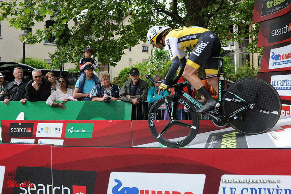 Baar - Switserland - wielrennen - cycling - radsport - cyclisme - Paul Martens (Germany / Team Lotto Nl - Jumbo) pictured during stage 1 of the Tour de Suisse 2016 from Baar to Baar (6,4 km) ITT Team Trial Individual - photo Miwa IIjima/Cor Vos © 2016