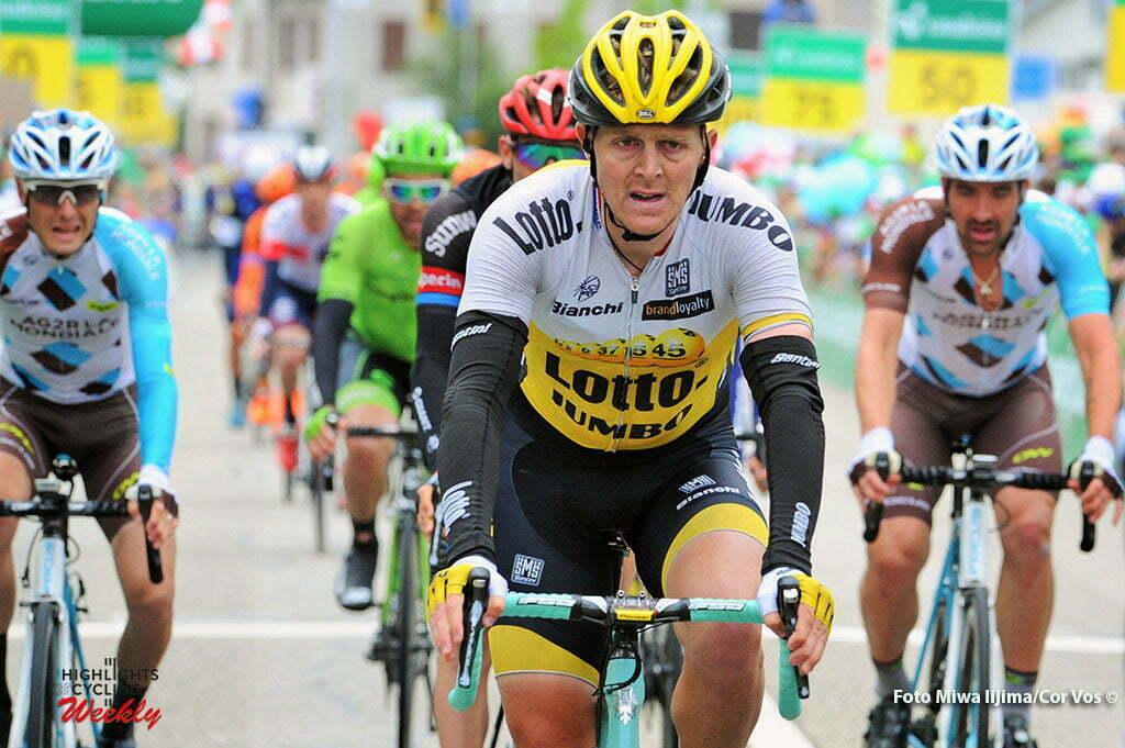 Baar - Switserland - wielrennen - cycling - radsport - cyclisme - Twan Castelijns (Netherlands / Team LottoNL - Jumbo) pictured during stage 2 of the Tour de Suisse 2016 from Baar to Baar (187,6 km) - photo Miwa IIjima/Cor Vos © 2016
