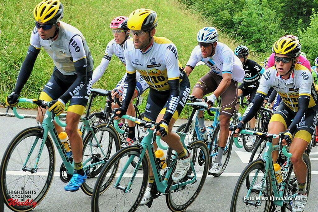 Baar - Switserland - wielrennen - cycling - radsport - cyclisme - Bertjan Lindeman (Netherlands / Team LottoNL - Jumbo) - Paul Martens (Germany / Team Lotto Nl - Jumbo) - Koen Bouwman (Netherlands / Team LottoNL - Jumbo) pictured during stage 2 of the Tour de Suisse 2016 from Baar to Baar (187,6 km) - photo Miwa IIjima/Cor Vos © 2016