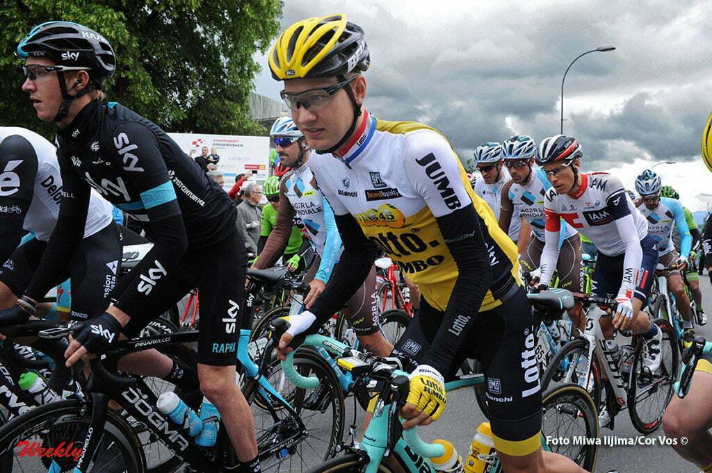 Rheinfelden - Switserland - wielrennen - cycling - radsport - cyclisme - Wilco Kelderman (Netherlands / Team LottoNL - Jumbo) pictured during stage 3 of the Tour de Suisse 2016 from Grosswangen to Rheinfelden (192.6 km) - photo Miwa IIjima/Cor Vos © 2016