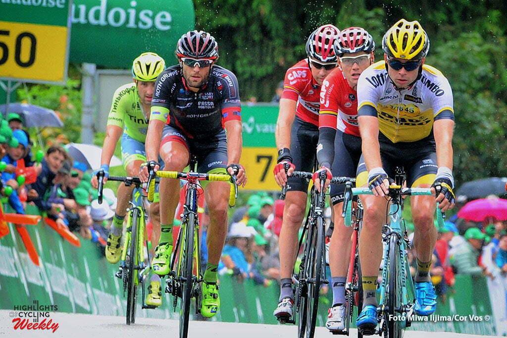 Rheinfelden - Switserland - wielrennen - cycling - radsport - cyclisme - Bertjan Lindeman (Netherlands / Team LottoNL - Jumbo) - Pim Ligthart (Niederlande / Team Lotto Soudal) pictured during stage 3 of the Tour de Suisse 2016 from Grosswangen to Rheinfelden (192.6 km) - photo Miwa IIjima/Cor Vos © 2016